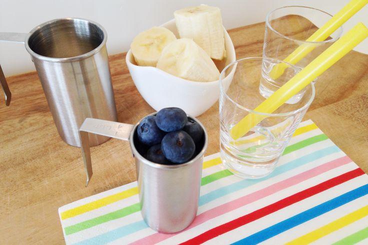 Blueberry Banana Smoothie Recipe Yaban mersinli ve Muzlu Smoothie Tarifi.  pamuktanbulut.com/