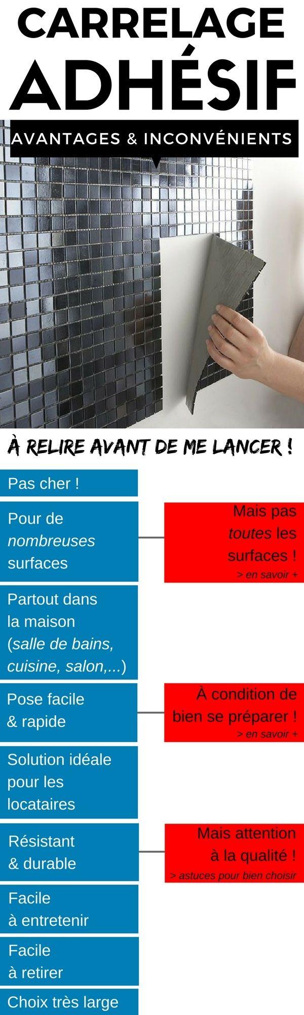 N'Achetez Pas Votre Carrelage Adhésif Avant de Connaître Les Avantages & Les Inconvénients !  http://www.homelisty.com/avantages-inconvenients-carrelage-adhesif