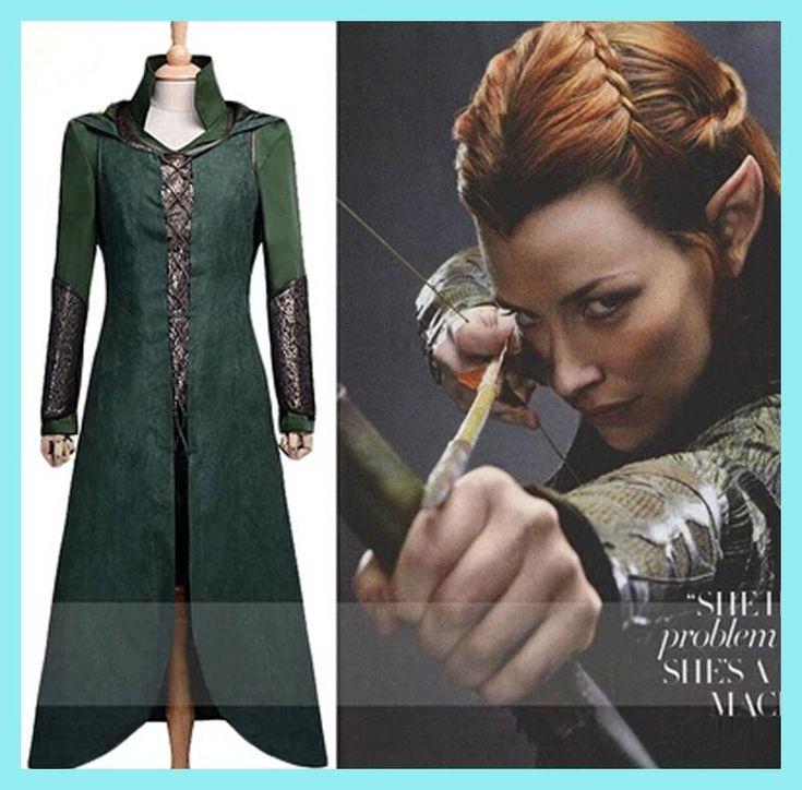 The Hobbit Tauriel Silvan Elves cosplay costume Movie costume for women fancy dress