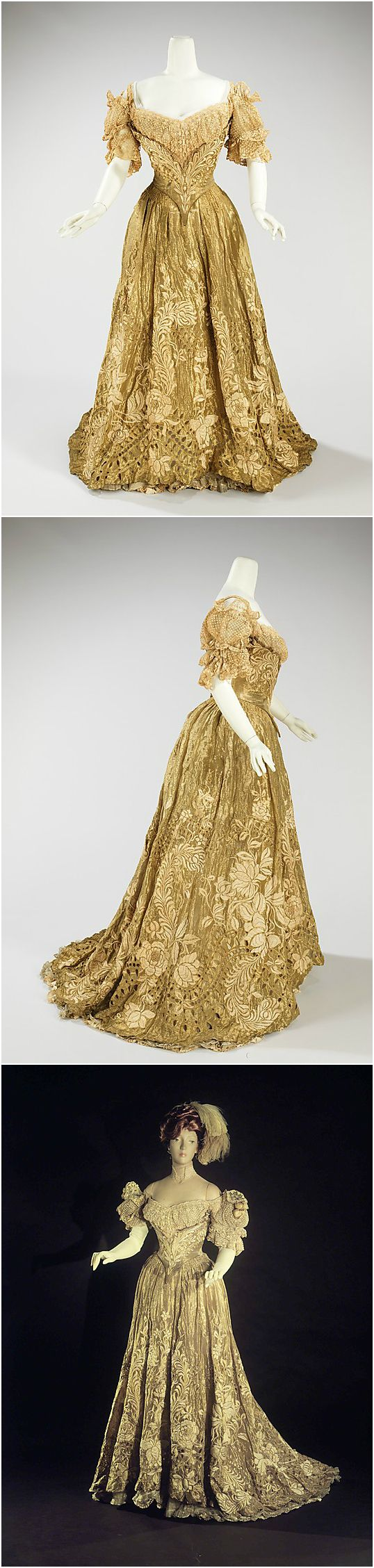Ball gown by Jacques Doucet, 1898-1902, at the Met. See: http://www.metmuseum.org/collection/the-collection-online/search/158193?img=4