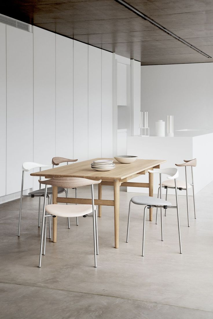 Chair wood chair scandinavian designer furniture wooden dining chairs - Dining The Ch88 Chair Designed By Hans J Wegner In 1955 Carlhansenandson Http Hans Wegnereasy Chairsfurniture