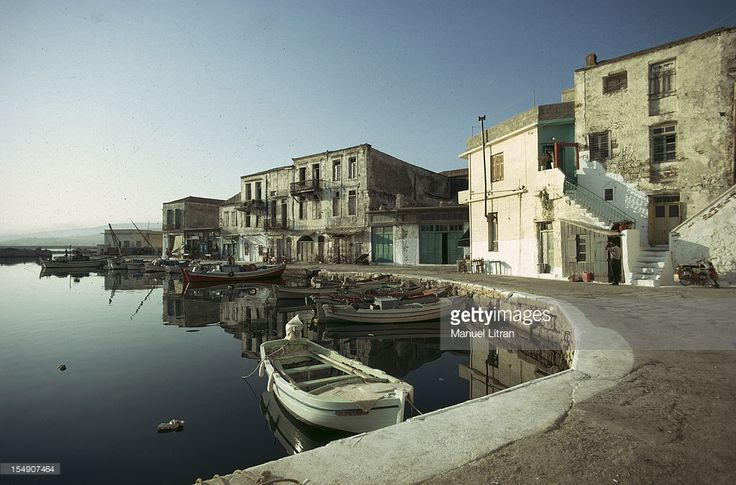 General view of  small fishing port of Rethymnon- January 08,1972.