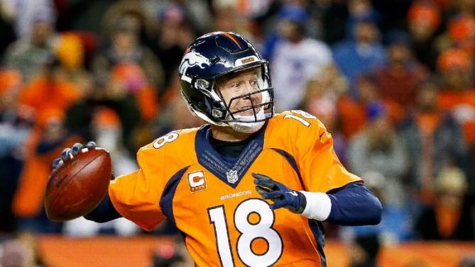 Quarterback Peyton Manning of the Denver Broncos passes against the San Diego Chargers during a game at Sports Authority Field at Mile High on January 3, 2016 in Denver, Colorado