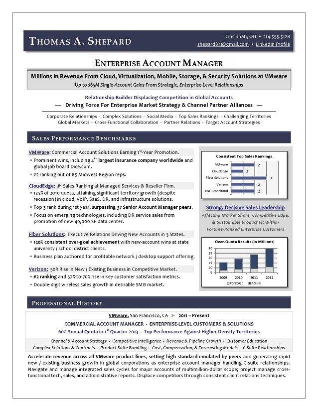 Enterprise Technology Sales Resume Sample Page 1