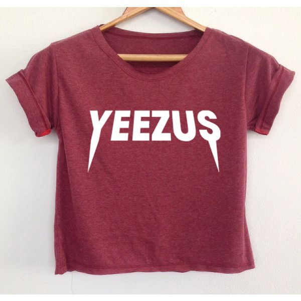 Crop Shirt Yeezus Shirt Yeezus Tshirt Kanye West Shirt Yeezus Tour... ($13) ❤ liked on Polyvore featuring tops