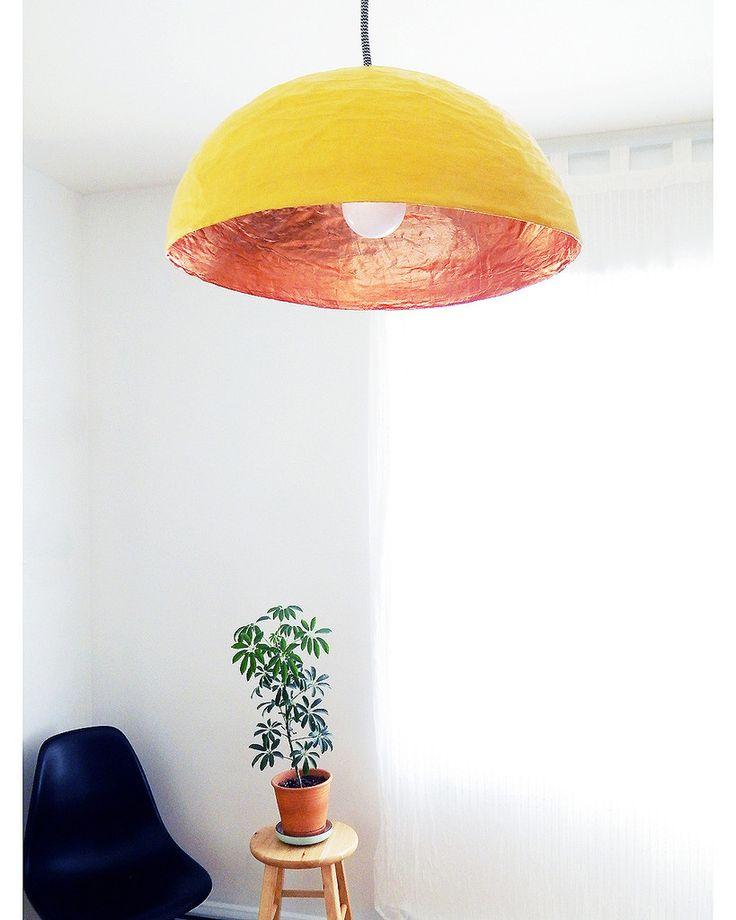 Luminaire Jaune & Cuivre • Yellow & copper light