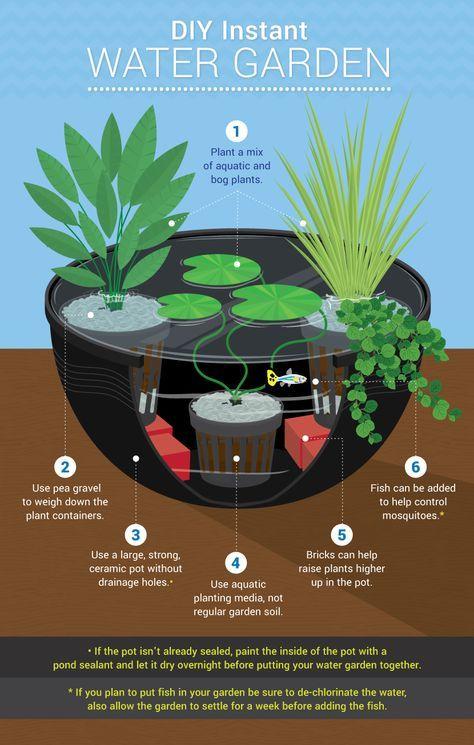 instantane jardin eau de bricolage de lueau pour les petits jardins