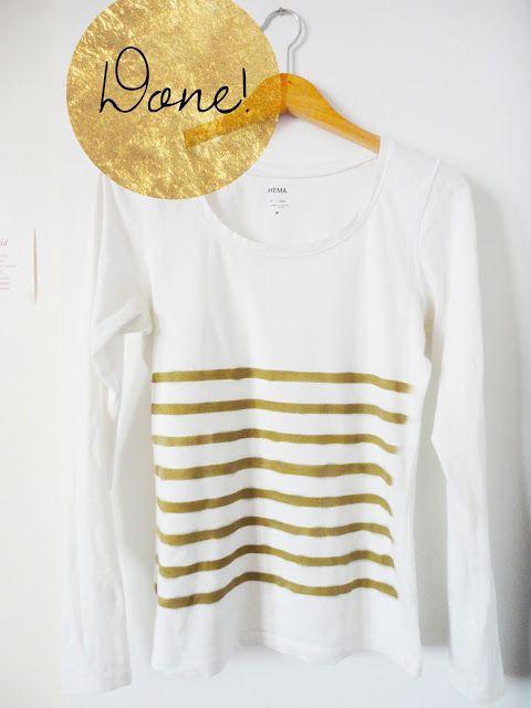 Atractiva camiseta decorada con aerosol
