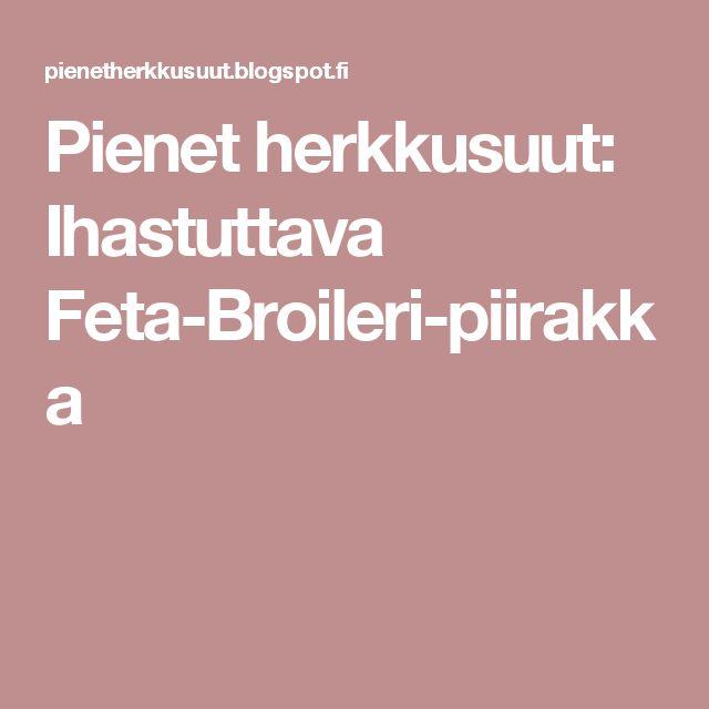 Pienet herkkusuut: Ihastuttava Feta-Broileri-piirakka