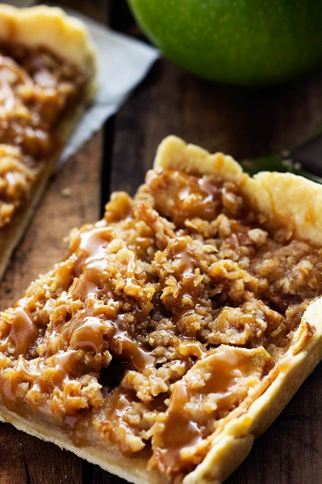 A thin and flaky melt in your mouth crust topped with juicy apples and a crisp topping. It is drizzled in homemade caramel and perfect for feeding a crowd! It was hot today. Like 90 degrees hot. …
