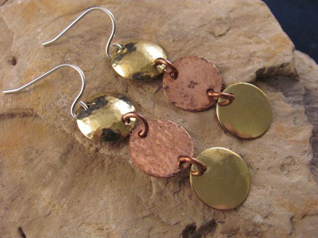 Copper and Brass with Sterling silver wires