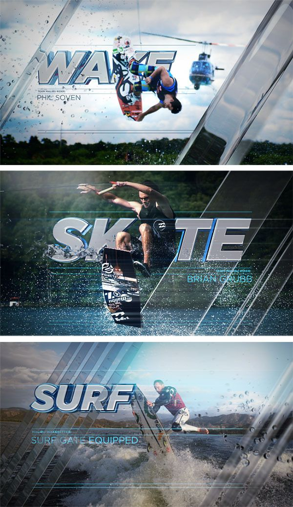 Malibu Boats Red Bull Wake Open Spot by Barton Damer, via Behance
