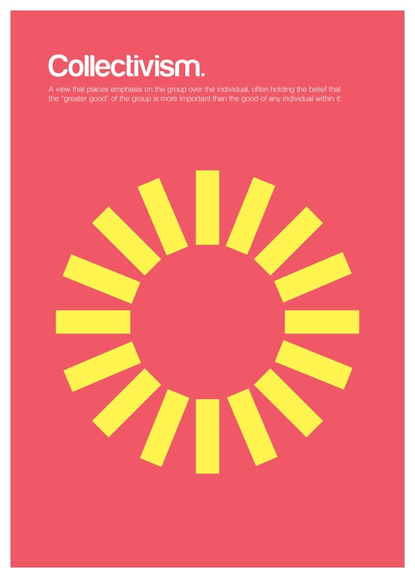 Collectivism Philographics Big Ideas In Simple Shapes By Genis Carreras