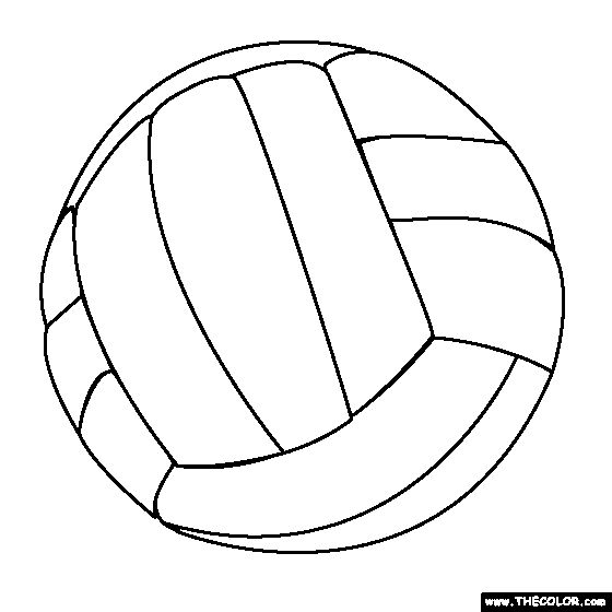 Volleyball Coloring Page These