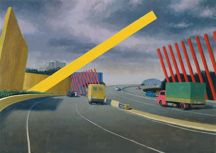 This picture, Melbourne Gate 2002, by arguably the greatest living Australian artist – Jeffrey Smart, is one of my favourites. His first goal was to become an architect and I think it's this precision that is so appealing. I simply love his work