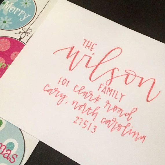 Holiday Envelope Addressing | Wedding Envelope Addressing
