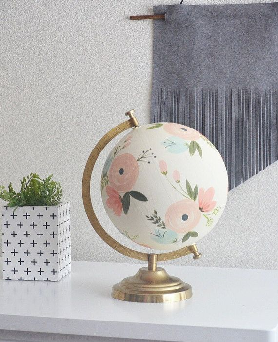 hand painted globe customized unpainted listing by HelloShoppe
