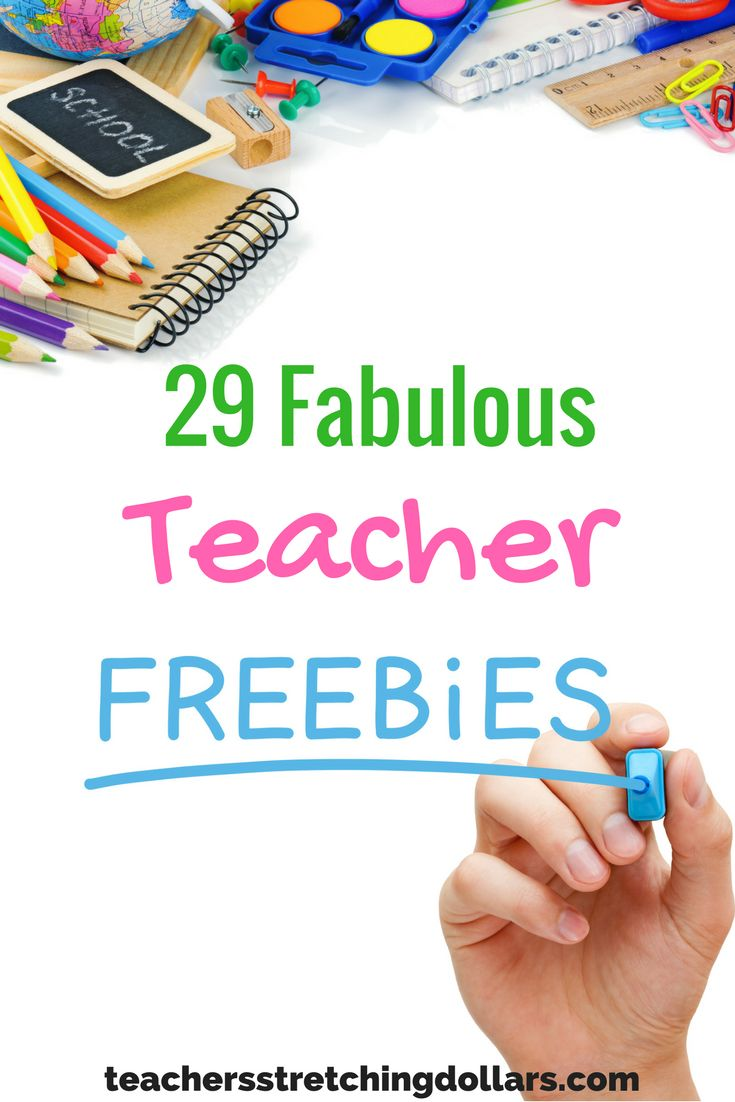 We've round-up 29 Fabulous Teacher Freebies just for you. For more teacher freebies, discount, and deals check out www.teachersstretchingdollars.com/