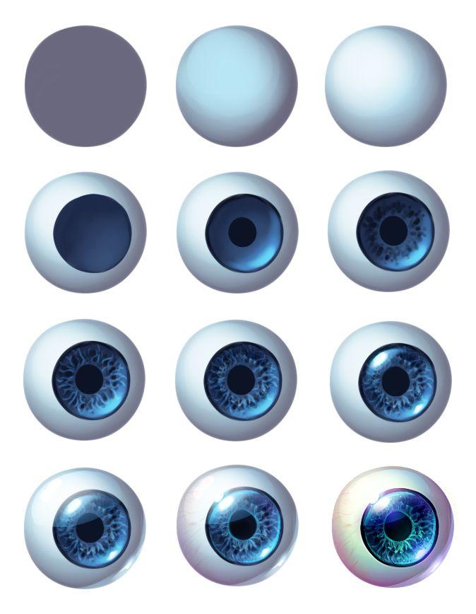 Eye Progress by Kawiku.deviantart.com on @deviantART