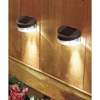 Set of 2 Solar Fence Lights with LED lights and Ni-Cd battery