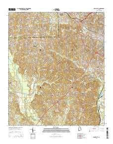 ~ Phenix City AL topo map, 1:24000 scale, 7.5 X 7.5 Minute, Current, 2014
