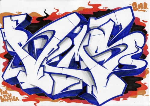 Graffiti tag art