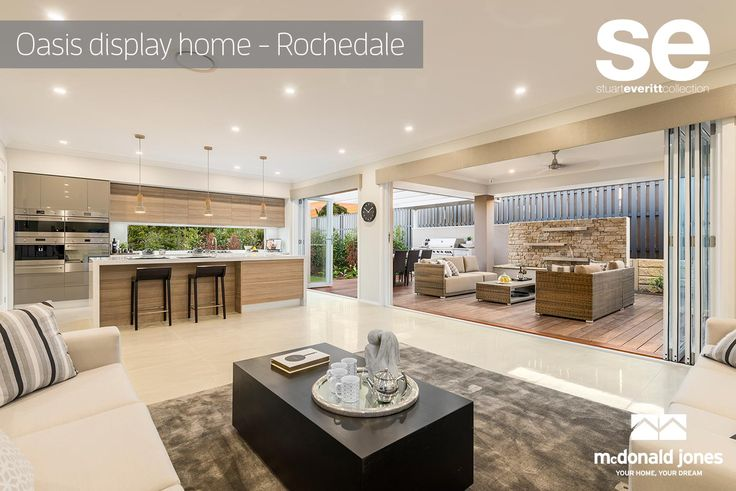 The large undercover alfresco will ensure you can get out and enjoy the fantastic QLD lifestyle all year round. This is a great home offering functional and independent living spaces which provides room to grow. #oasis #displayhome #familyroom #alfresco #mcdonaldjoneshomes