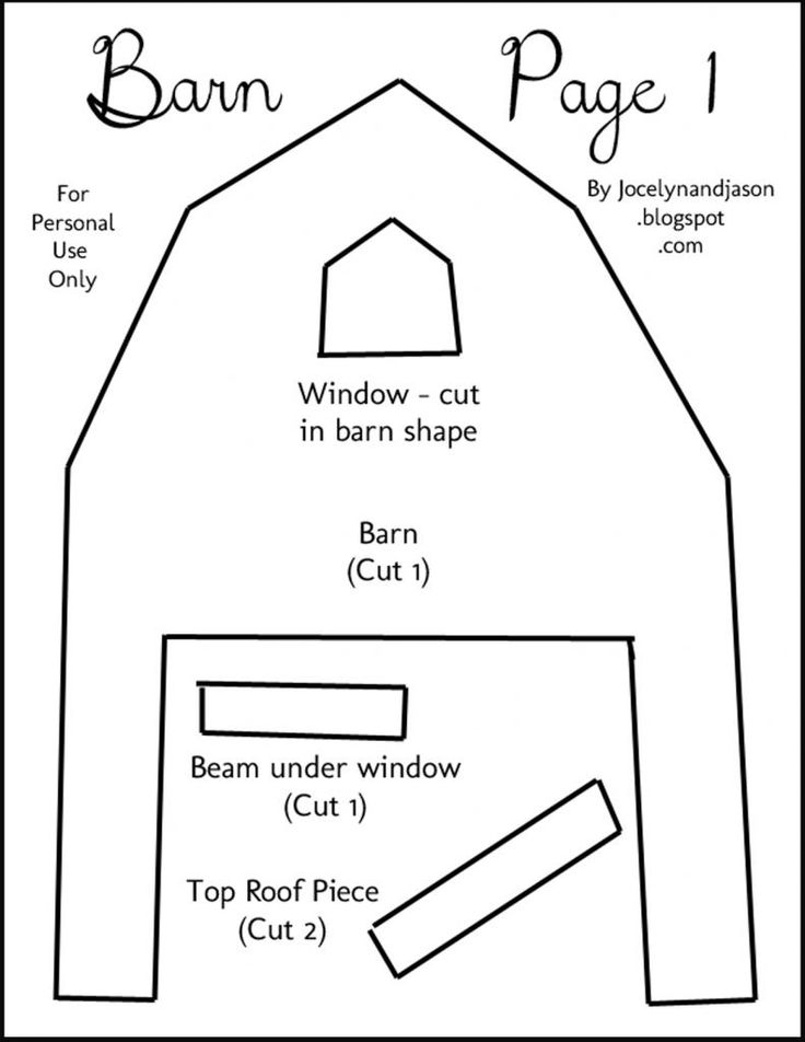 barn outline printable - photo #28