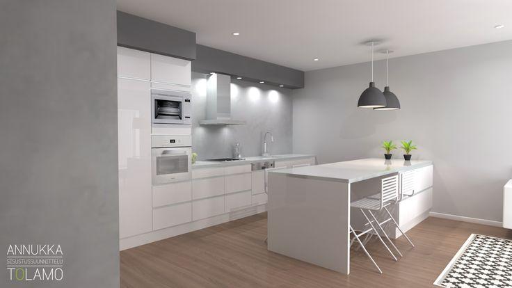 Sisustussuunnittelu Annukka Tolamo / 3D-mallinnus keittiö / Remonttikohde