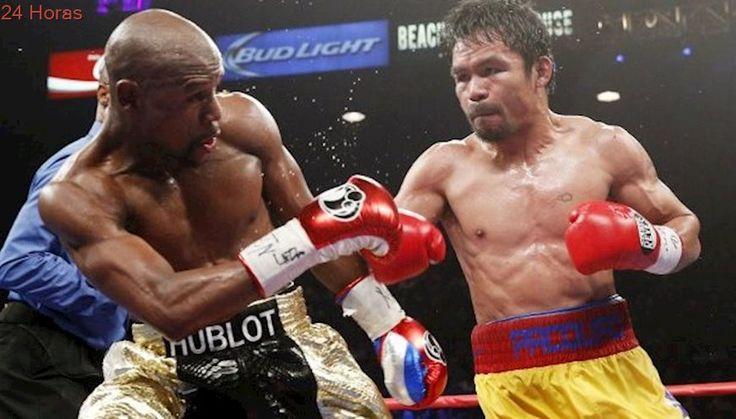 """El épico 'trolleo' de Manny Pacquiao a Mayweather en la previa de la """"Pelea del Milenio"""""""