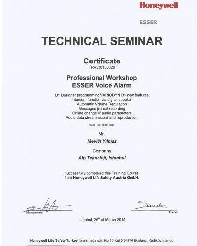 Honeywell sertifikalar