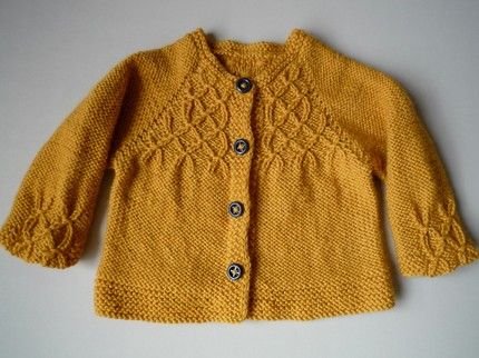 Mustard yellow knitted cardigan