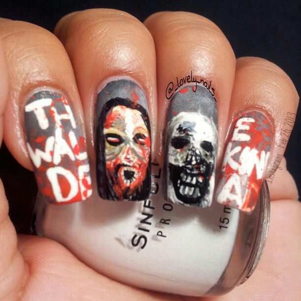 Walking Dead Nails: 1000+ Images About Nail Art On Pinterest