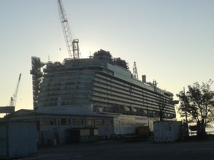 Britannia, a new big cruise ship for P&O (Monfalcone, Italy)
