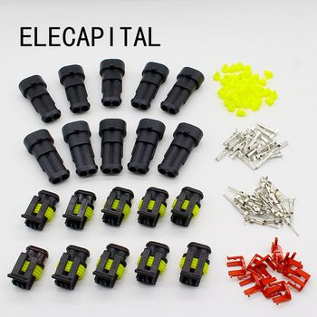 Promotion! 10 Kit 2 Pin Way Waterproof Electrical Wire Connector Plug  Price: 3.14 USD
