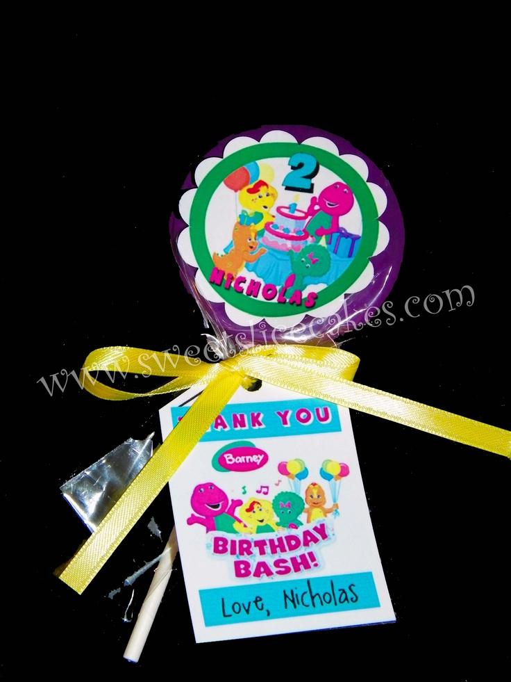 Barney Birthday Bash White Chocolate Favors
