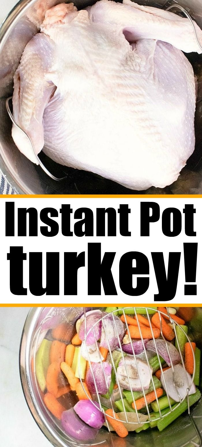 Pressure cooker turkey is the best in your Instant Pot! It's easier than you thi…