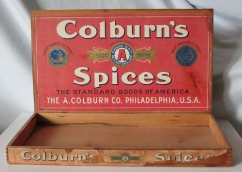 COLBURN'S SPICES ANTIQUE STORE DISPLAY BOX, THE A. COLBURN CO. PHILADELPHIA in Collectibles, Advertising, Merchandise & Memorabilia, Store Displays | eBay