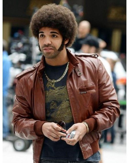 World Famous Drake (rapper) leather jacket. American apparel