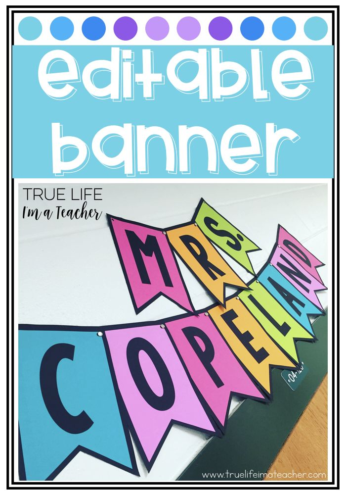 Create a colorful banner for your classroom with ZERO colored ink!