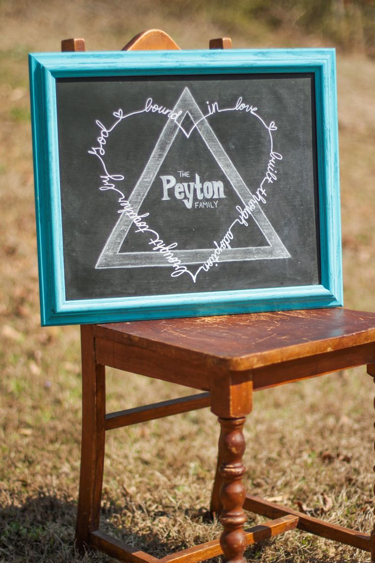 """Adoption Chalkboard featuring the Adoption Symbol 