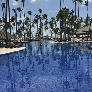 Un paraíso #paraíso #bello #sun #sol #playa #hotelBarcelo #puntaCana #ice #palm