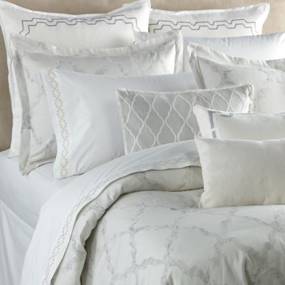 vera wang fretwork duvet cover in light cream