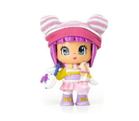 Pinypon Snow Figures: Girl w/ pink bonnet