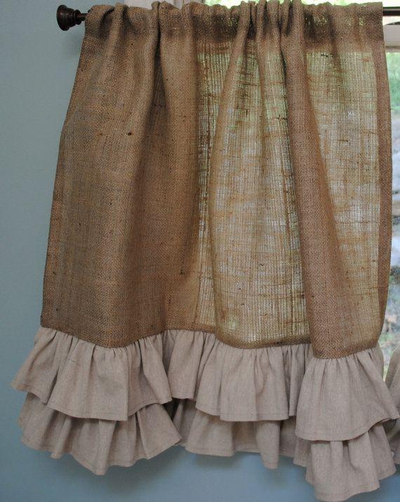 M s de 1000 ideas sobre cortinas con volantes en pinterest - Cortinas de arpillera ...