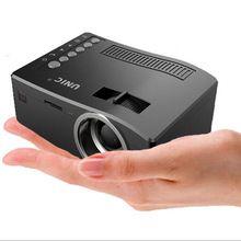 Hot UNIC UC18 Full HD 1080 p Mini Projetor Portátil de Vídeo Digital LED Projetor multimídia Jogador Entradas AV VGA USB HDMI UC18(China (Mainland))