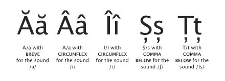 These diacritics of the alphabet are an extra aspect that differentiates Romanian from other languages, even from its mother (Latin). There is no difficulty in pronouncing them as reading our words is extremely simple.