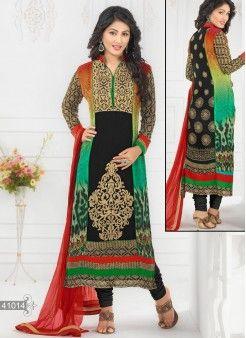 Heena Khan Awesome Black ..http://www.kellyfashions.com/salwar-kameez 9227928195