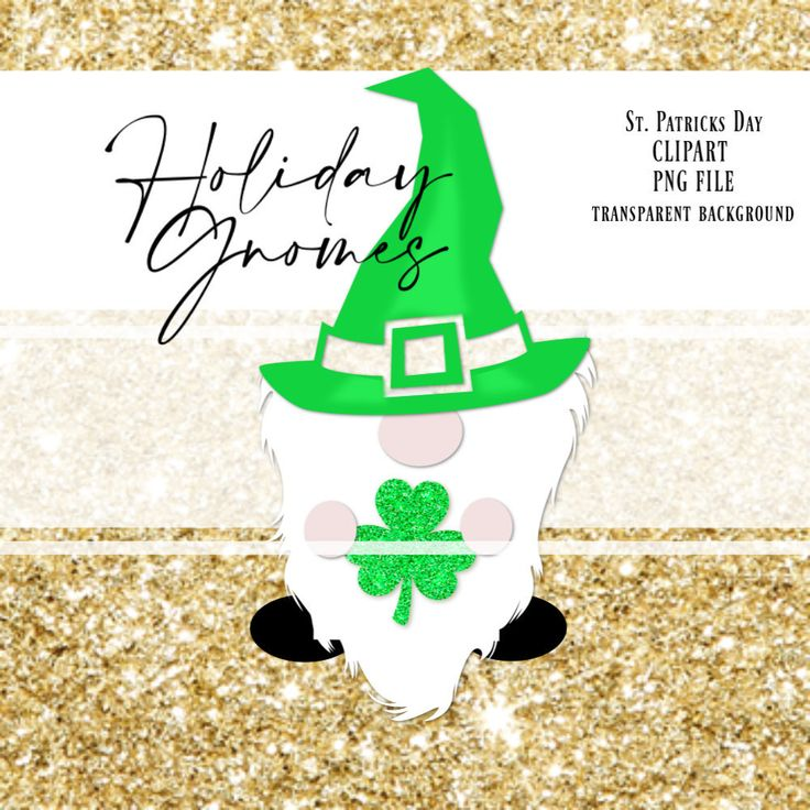 Download St. Patricks Day Gnome PNG Clipart Graphics, Gnome Green ...