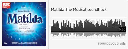 Matilda The Musical soundtrack Girls Boys